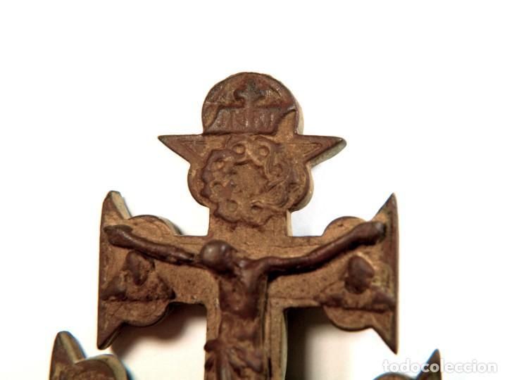 Antigüedades: CRUCIFIJO DE BRONCE SIGLO XVIII - Foto 4 - 195420488