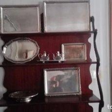 Antigüedades: LOTE DE BANDEJAS PLATEADAS: 5 BANDEJAS + 1 FRUTERO. Lote 195423737