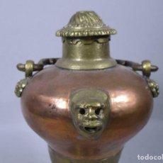 Antigüedades: ANTIGUA EXTRAORDINARIA TETERA BRONCE LATÓN COBRE, APROX. 33 O 39 CM.SIGLO XVII MUSEO 530,00. Lote 195430110