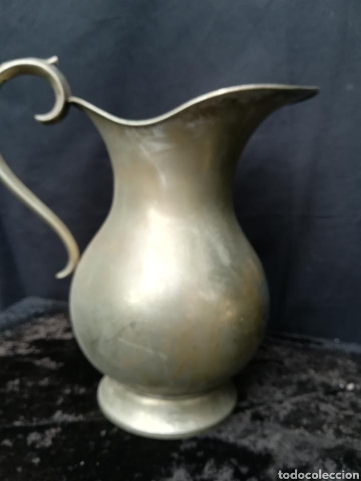 Antigüedades: 2 jarras antiguas de alpaca - Foto 3 - 195435003