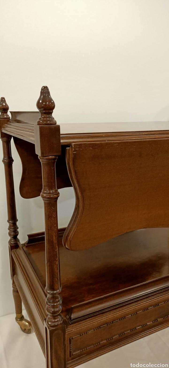 Antigüedades: Camarera de madera con alas abatibles - Foto 5 - 195441236