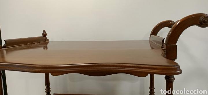 Antigüedades: Camarera de madera con alas abatibles - Foto 6 - 195441236