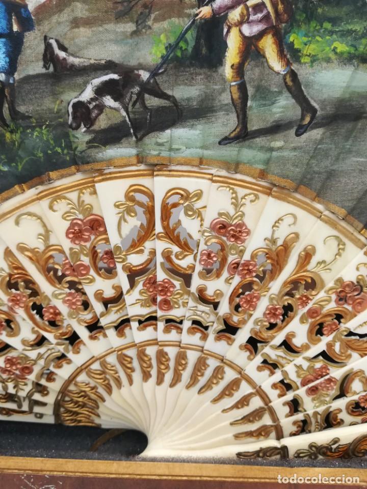 Antigüedades: Precioso abanico varillas marfil o hueso escena de Goya firma Porta - Foto 4 - 195443131
