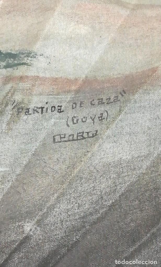 Antigüedades: Precioso abanico varillas marfil o hueso escena de Goya firma Porta - Foto 14 - 195443131