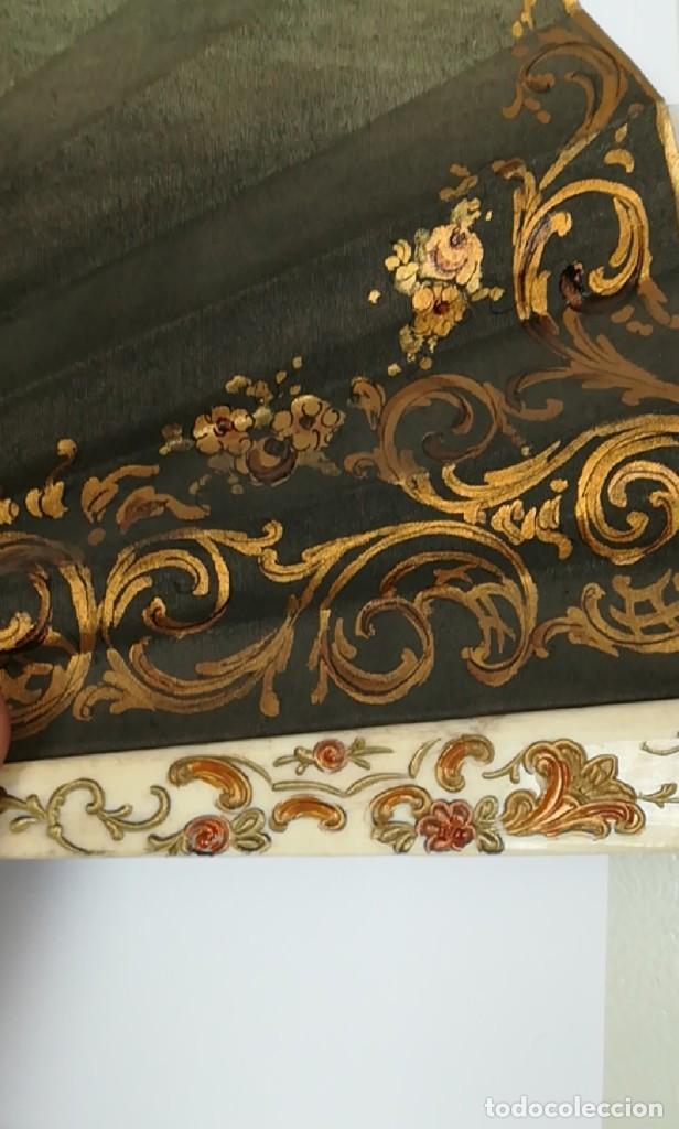 Antigüedades: Precioso abanico varillas marfil o hueso escena de Goya firma Porta - Foto 15 - 195443131