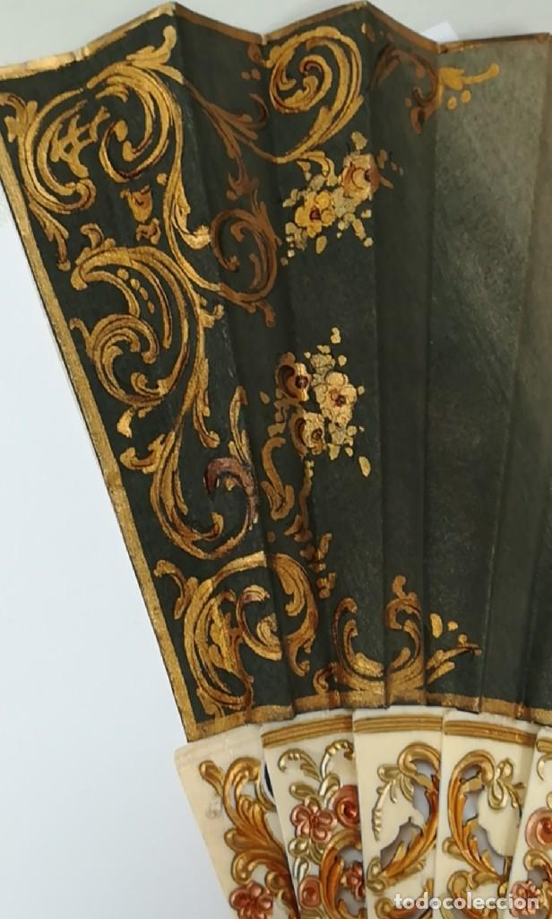 Antigüedades: Precioso abanico varillas marfil o hueso escena de Goya firma Porta - Foto 16 - 195443131