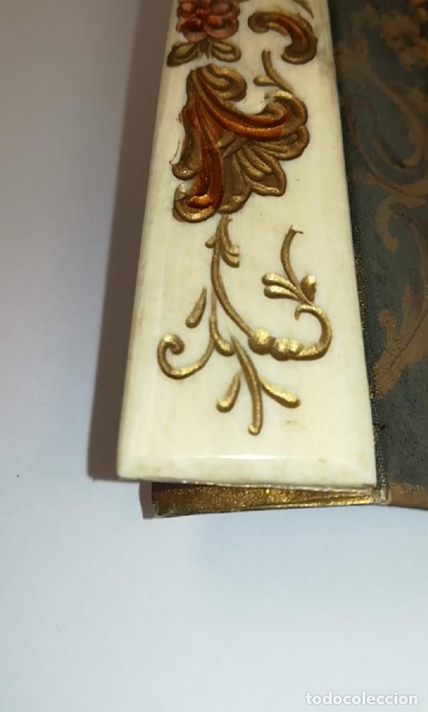 Antigüedades: Precioso abanico varillas marfil o hueso escena de Goya firma Porta - Foto 24 - 195443131