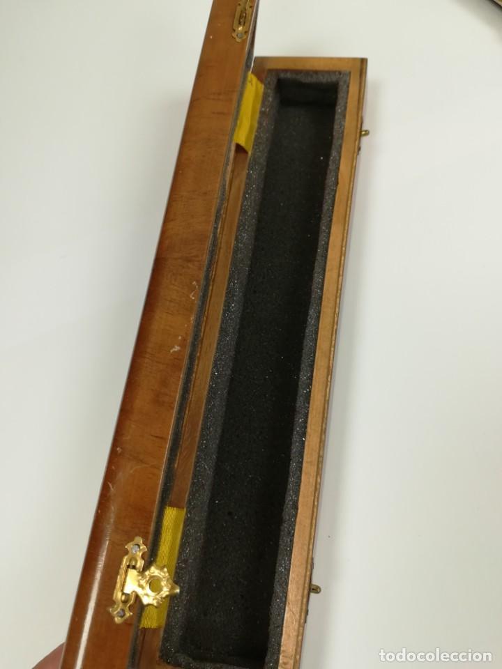 Antigüedades: Precioso abanico varillas marfil o hueso escena de Goya firma Porta - Foto 25 - 195443131
