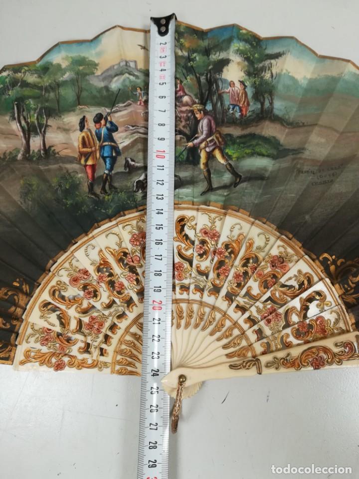 Antigüedades: Precioso abanico varillas marfil o hueso escena de Goya firma Porta - Foto 30 - 195443131