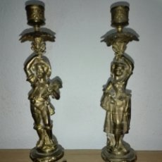 Antigüedades: CANDELABROS BRONCE. Lote 195438335