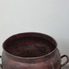 Antigüedades: LECHERA GRANDE DE FORJA. Lote 195447766