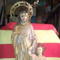 Antigüedades: SAN JOSE Y NIÑO JESUS .. Lote 195450247