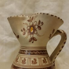 Antigüedades: JARRA TALAVERA POLICROMADA ALTURA 20 CMTS . Lote 195454586