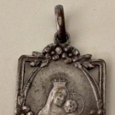 Antigüedades: ANTIGUA ( MEDALLA VIRGEN CON NIÑO JESÚS). MÁS MEDALLAS ANTIGUAS EN MI PERFIL.. Lote 195457223