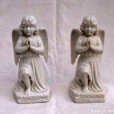 Antigüedades: PAREJA DE ANGELITOS DE BISCUIT . Lote 195465082