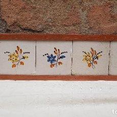 Antigüedades: 5 AZULEJOS CERAMICA CATALANA SXIX. Lote 195465151