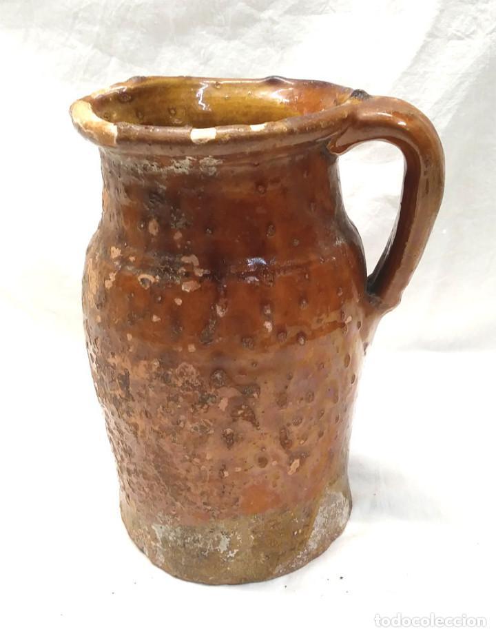 JARRA MEDIDA PARA VINO DE MIRAVET TERUEL, TERRACOTA BARRO. MED. 20 CM (Antigüedades - Porcelanas y Cerámicas - Teruel)
