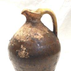Antigüedades: JARRA ACEITE DE MIRAVET TERUEL S XIX, TERRACOTA BARRO. MED. 22 CM. Lote 195467687