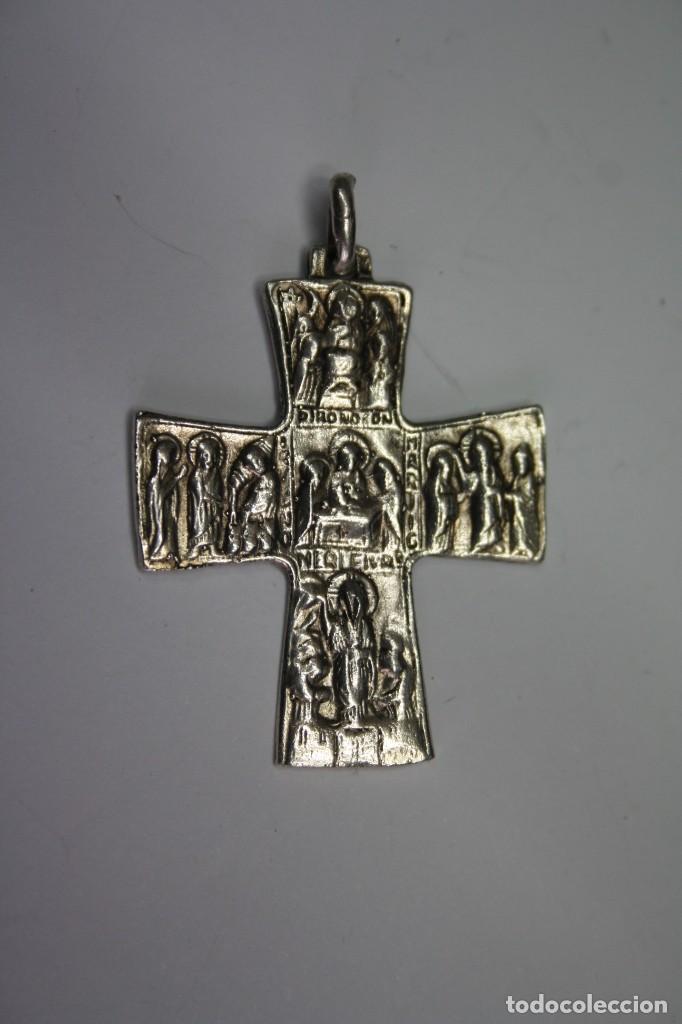 3,, RARA ANTIGUA CRUZ CON VIACRUCIS DE PLATA (Antigüedades - Religiosas - Crucifijos Antiguos)