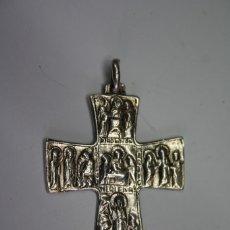 Antigüedades: 3,, RARA ANTIGUA CRUZ CON VIACRUCIS DE PLATA. Lote 195471360