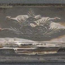 Antigüedades: CAJA PASTILLERO EN PLATA CORDOBESA GRABADA SEGUNDA MITAD DEL SIGLO XVIII. Lote 195477615