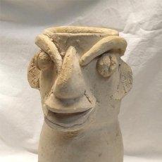 Antigüedades: JARRA ANTROPOMORFICA TERRACOTA BARRO IBIZA, BUEN ESTADO. MED. 28 CM. Lote 195478480