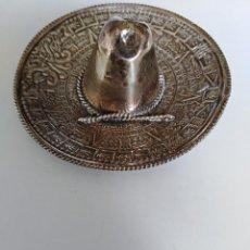 Antigüedades: PRECIOSO SOMBRERO MEXICANO DE PLATA DE LEY 925 . Lote 195478578