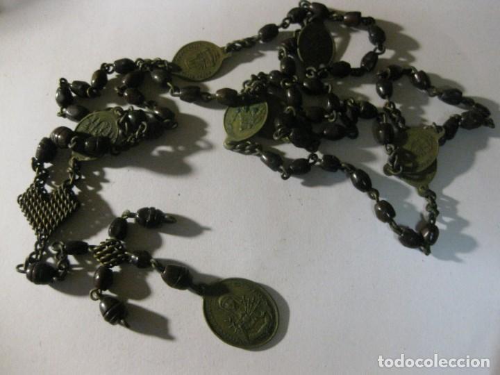 Antigüedades: antiguo rosario con las siete dolores de la virgen mater dolorosa . medalla precioso - Foto 2 - 195480035