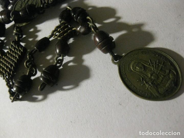 Antigüedades: antiguo rosario con las siete dolores de la virgen mater dolorosa . medalla precioso - Foto 4 - 195480035