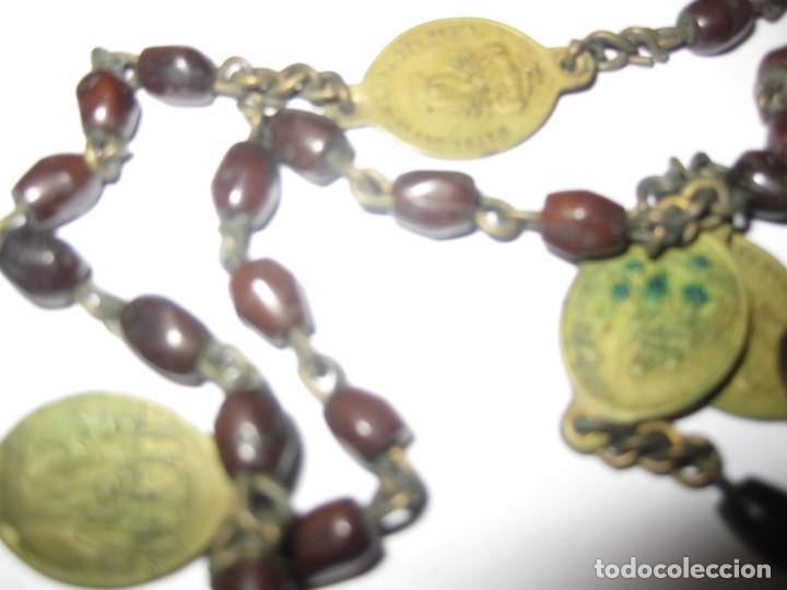 Antigüedades: antiguo rosario con las siete dolores de la virgen mater dolorosa . medalla precioso - Foto 5 - 195480035