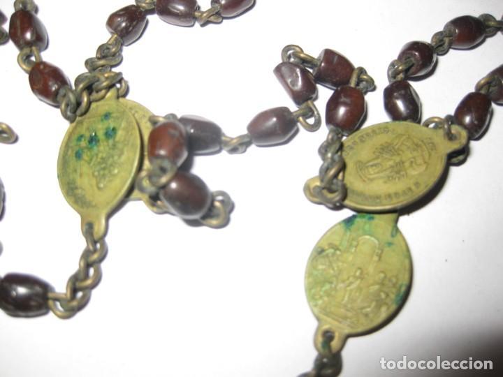 Antigüedades: antiguo rosario con las siete dolores de la virgen mater dolorosa . medalla precioso - Foto 6 - 195480035