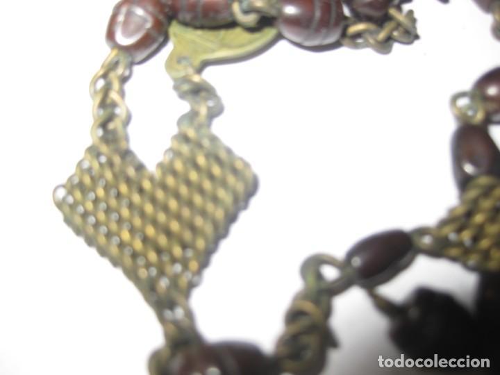 Antigüedades: antiguo rosario con las siete dolores de la virgen mater dolorosa . medalla precioso - Foto 7 - 195480035