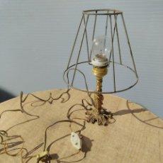 Antigüedades: LAMPARA DE MESA LATÓN, COBRE O BRONCE.. Lote 195490950