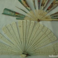 Antigüedades: LOTE DE DOS ABANICOS PARA RESTAURAR. Lote 195491542