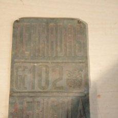 Antigüedades: PLACA AGRICOLA ** TERRADAS ** G 102 AGHRICOLA. Lote 195497328