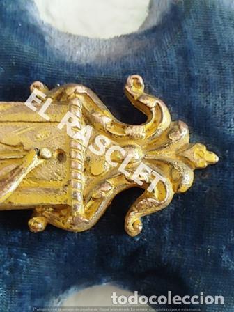 Antigüedades: ANTIGUA CRUZ DE CRISTO DE BRONCE CON SU PICA PARA EL AGUA TAMBIEN DE BRONCE -VER FOTOS- - Foto 7 - 195498301