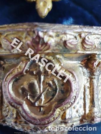 Antigüedades: ANTIGUA CRUZ DE CRISTO DE BRONCE CON SU PICA PARA EL AGUA TAMBIEN DE BRONCE -VER FOTOS- - Foto 11 - 195498301