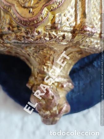Antigüedades: ANTIGUA CRUZ DE CRISTO DE BRONCE CON SU PICA PARA EL AGUA TAMBIEN DE BRONCE -VER FOTOS- - Foto 14 - 195498301