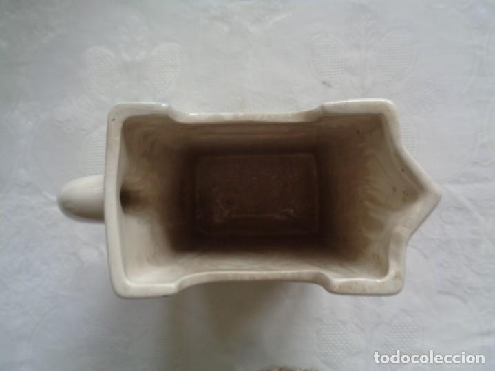 Antigüedades: JARRA DE LECHE EN CERÁMICA VALENCIANA PINTADA A MANO. 18 X 12 X 8 Cm. X 12 X 8 Cm. - Foto 3 - 195504461