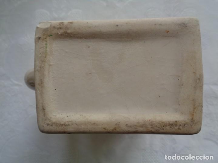Antigüedades: JARRA DE LECHE EN CERÁMICA VALENCIANA PINTADA A MANO. 18 X 12 X 8 Cm. X 12 X 8 Cm. - Foto 4 - 195504461
