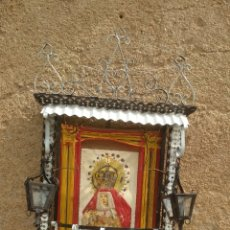 Antigüedades: CAPILLA ANTIGUA DE LATA.. Lote 195508200