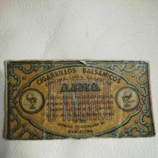 Antigüedades: CARTON TARJETA CIGARRILLOS BALSAMICOS. Lote 195511900