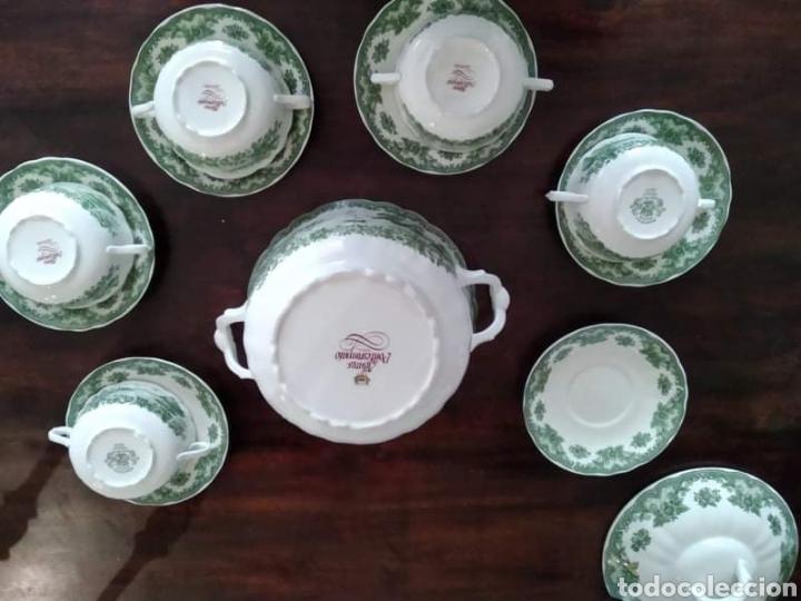 Antigüedades: Maravillosa sopera y cuencos soperos con plato de porcelana alfares de pontisano antigua pontesa - Foto 4 - 195513222