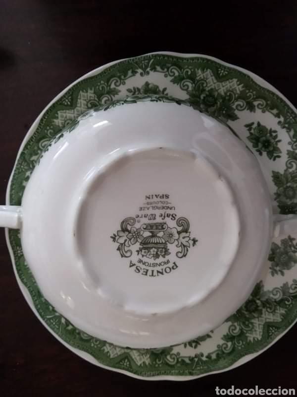 Antigüedades: Maravillosa sopera y cuencos soperos con plato de porcelana alfares de pontisano antigua pontesa - Foto 6 - 195513222