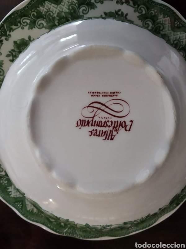 Antigüedades: Maravillosa sopera y cuencos soperos con plato de porcelana alfares de pontisano antigua pontesa - Foto 7 - 195513222