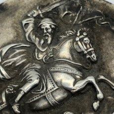 Antigüedades: SANTIAGO MATAMOROS DE PLATA REPUJADA 800. Lote 195514860