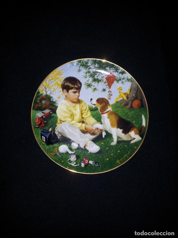 Antigüedades: ELAINE GIGNILLIAT - COLECCION DE 7 PLATOS DECORATIVOS, CHILDREN OF THE WEEK - COMPLETA - Foto 6 - 195527247