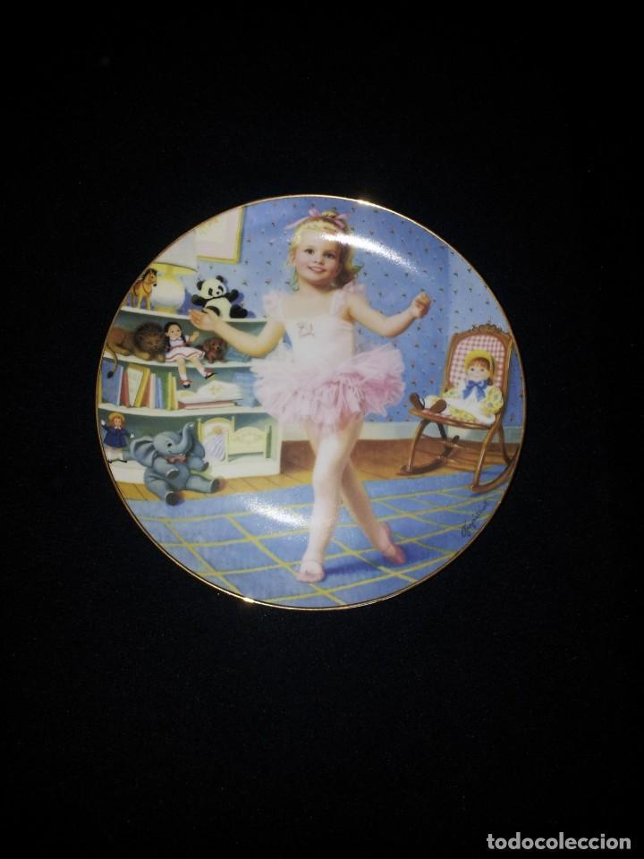 Antigüedades: ELAINE GIGNILLIAT - COLECCION DE 7 PLATOS DECORATIVOS, CHILDREN OF THE WEEK - COMPLETA - Foto 8 - 195527247