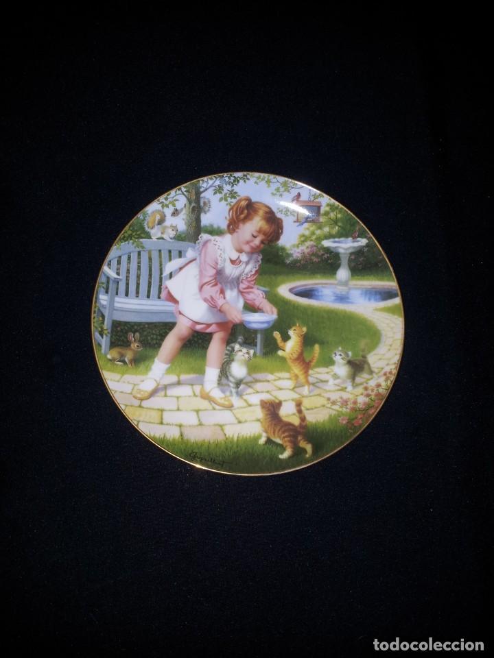 Antigüedades: ELAINE GIGNILLIAT - COLECCION DE 7 PLATOS DECORATIVOS, CHILDREN OF THE WEEK - COMPLETA - Foto 10 - 195527247