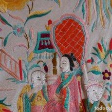 Antigüedades: MANTON SIGLO XIX CON CHINOS. Lote 195534431